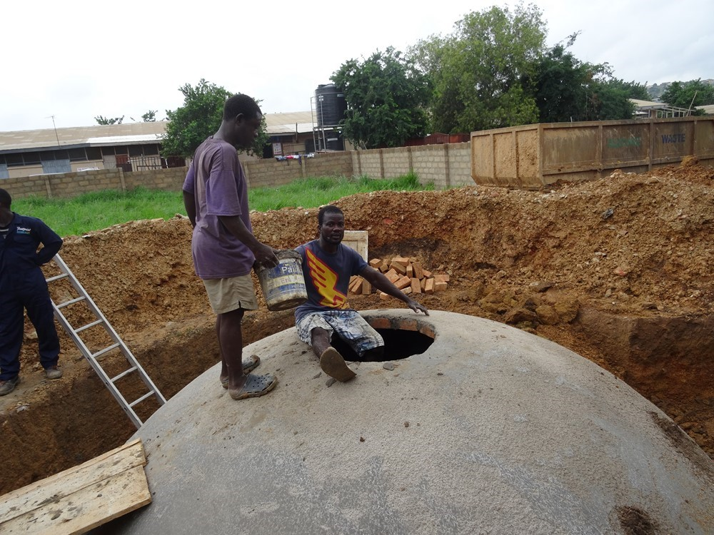 Biogas construction